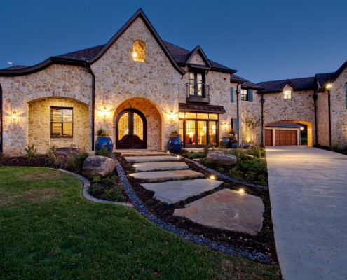 Front Home rustic Traditional and Modern Sterling Brook Custom Homes