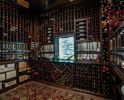 Wine Cellar Cool Modern Design Sterling Brook Custom Homes