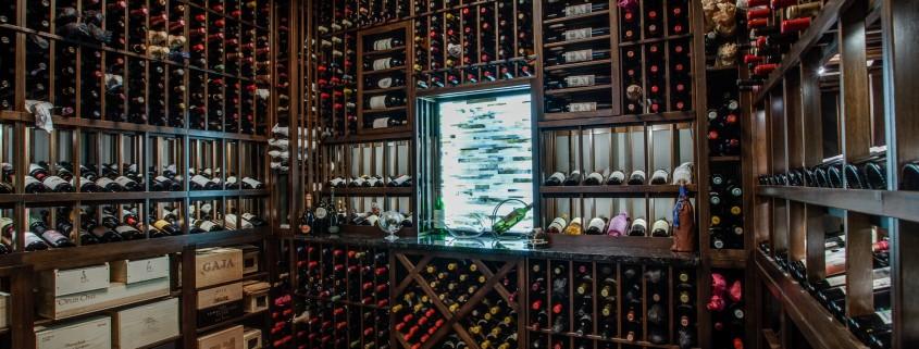 Wine Cellar Cool Modern Design Sterling Brook Custom Homes