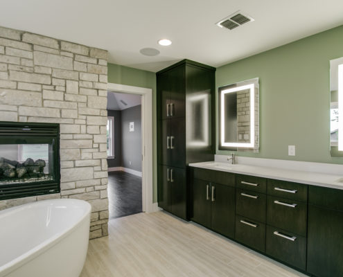 Master Bathroom Standing Tub Sterling Brook Custom Homes