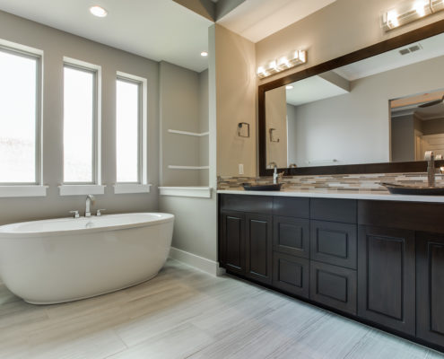 Highland Oaks W Master Bathroom Sterling Brook Custom Homes