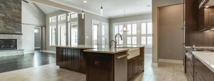 Highland Oaks Kitchen and Living Sterling Brook Custom Homes